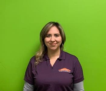 A picture of a female SERVPRO employee