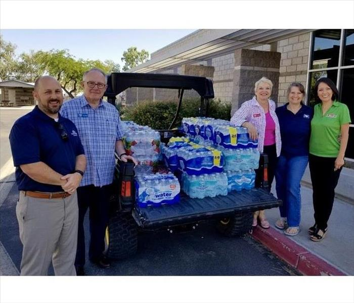 SERVPRO Of Gilbert Participates In Water Bottle Dontation