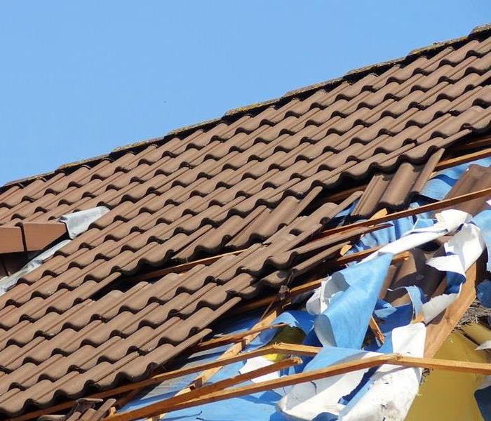 A Storm Damaged Roof